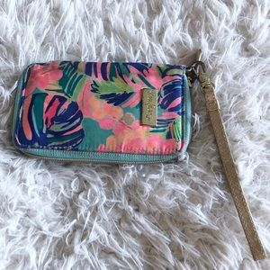Lily Pulitzer colorful Wristlet!
